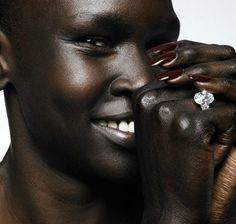 Alek Wek flawless skin