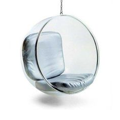 The Bubble Chair by Finnish designer Eero Aarnio from 1958. The chair is manufactured by Adelta. http://www.adelta.de/