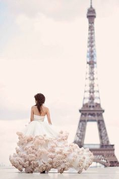 Gorgeous Dresses and Paris. Pure Happiness.