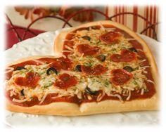 Melt Your Heart Pizza:  Simply the most endearing pizza you can make for that February holiday we all love to celebrate.