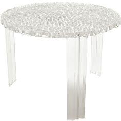 T-Table sofabord høyt, transparent Kartell - Kjøp møbler online på ROOM21.no