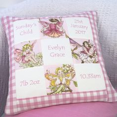 Are you interested in our Flower Fairy Memory Cushion? With our Embroidered Cushion you need look no further. Baby Patchwork Quilt, Little Girl Gifts, Handmade Cushions, Embroidered Cushions, Lavender Sachets, Flower Fairies, Sewing Rooms, Pin Cushions, Pillows