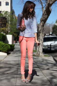 have to try striped shirt with my colored jeans