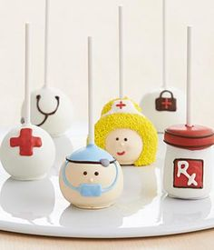 Get Well Cake Pops. Medical themed, doctor nurse...