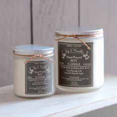 Soy Candle  Fig & Vanilla  4 oz  in a glass jar  by TOKYOFACTORY, $12.00
