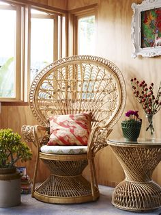 Our #PeacockChair in Natural, Home Beautiful Magazine