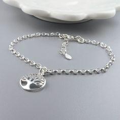 Silver Tree of Life Bracelet Sterling Silver by RoseAndRaven