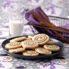 Cinnamon Roll Cookies  - this refrigerator cookie has all the wonderful flavor of a traditional cinnamon bun!