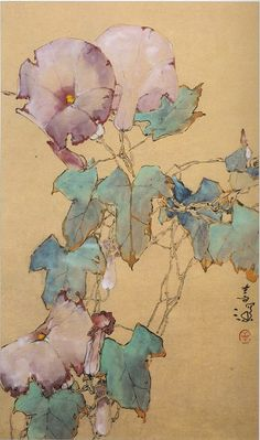 Route to Art — iamjapanese: Yang Shan Shen(杨善深 Chinese,. Japanese Painting, Chinese Painting, Chinese Art, Japanese Art, Botanical Drawings, Botanical Art, Botanical Illustration, Illustration Art, Watercolor Flowers