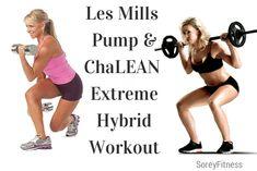 Les Mills PUMP ChaLEAN Extreme Hybrid Workout Calendar #EverydayBeautyRoutine
