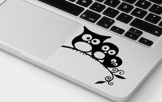 "Macbook Laptop Vinyl Sticker Decal 11"" 13"" 15"" 17"" HP Dell Asus Owl Sticker"