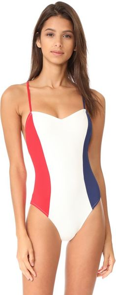 ec16641e4ddf9 Solid & Striped The Diana One Piece Norma Kamali, Slimming Bathing Suits, 1  Piece