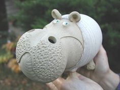 Hippo Money Banks made by Money Banks Pottery