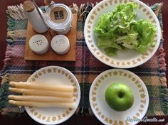 Receta de Ensalada de espárragos y manzana - 8 pasos