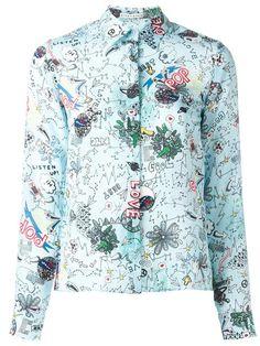 ALICE AND OLIVIA doodle print shirt. #aliceandolivia #cloth #shirt