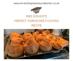 Perfect Yorkshire pudding Recipe by Mrs Bishop New Recipes, Cooking Recipes, Roast Beef Dinner, Yorkshire Pudding Recipes, Toad In The Hole, Quick Bread, Perfect Food, Food To Make