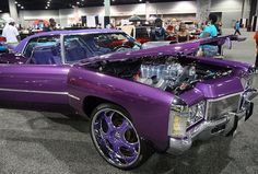 I heart purple pimped out old school cars vroooom-vroooom Pimped Out Cars, Chevy Caprice Classic, Vintage Cars, Antique Cars, Donk Cars, Free Tattoo Designs, Candy Car, Candy Paint, Old School Cars