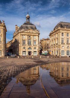 de la Barra photography, honeymoon ideas, honeymoon in Europe, Square in Bordeaux, France.