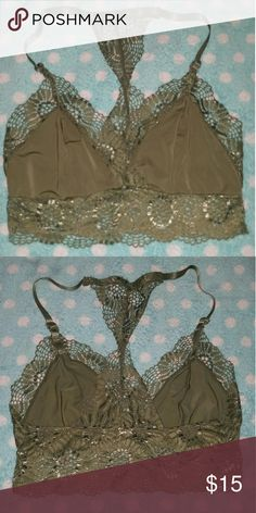 623ee23b8dac4 Urban Outfitters lace Bralette Gently worn No damage Size small (can also  fit medium) Olive colored  ) Urban Outfitters Intimates   Sleepwear Bras