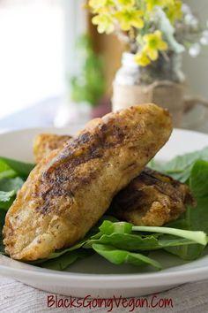 chicken fried seitan with crispy skin
