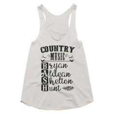 Country Music Bash, festival style, racerback tank. Luke Bryan, Jason Aldean, Blake Shelton, Sam Hunt.