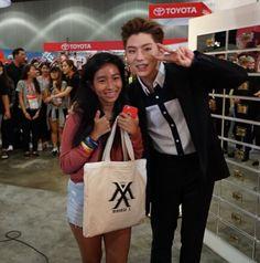 cj_o_shopping: Monsta X made a surprise visit to CJ O Shopping booth #kcon#celebshop #cjoshopping #monstax || Monsta X Kihyun