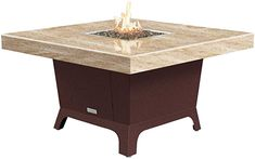 Amazon.com: COOKE Parkway Square fire Pit Table - 48 x 48 - Dining Height - Propane - So Cal Special Granite Top - Dark Cherry Powdercoat Base: Kitchen  Dining Outdoor Heaters, Patio Heater, Square Fire Pit, Granite Tops, Fire Pit Table, Kitchen Dining, Base, Amazon, Furniture