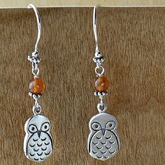 What a Hoot! Make your own owl earrings with supplies from http://www.ninadesigns.com/jewelry_design_ideas/forest_dweller.html
