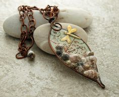 Vintage map shells dragonfly in resin tear by DragonflyDreamers, $48.00