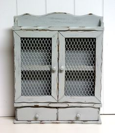 Shabby Chic Spice Rack In Gray By Speckleddog On