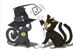 Blue Exorcist / Soul Eater ~~ Kuro plays with Blair