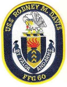 USS RODNEY M. DAVIS FFG-60 GUIDED MISSILE FRIGATE SHIP PATCH