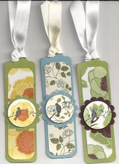 Bookmarks by - Cards and Paper Crafts at Splitcoaststampers Homemade Bookmarks, Diy Bookmarks, Corner Bookmarks, Felt Bookmark, Leather Bookmark, Crafts For Seniors, Book Markers, Craft Club, Scrapbook Embellishments