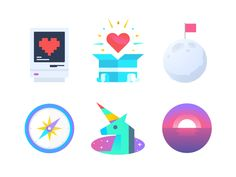 Rando Icons by Nick Slater #Design Popular #Dribbble #shots