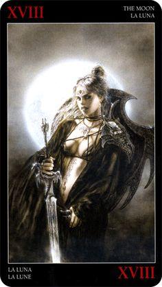 The Moon - Royo Dark Tarot