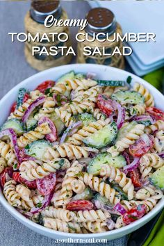 Cucumber Pasta Salad, Vegetarian Pasta Salad, Pasta Salad Recipes, Pasta Side Dishes, Pasta Sides, Easy Rice Recipes, Healthy Recipes, Healthy Meals, Vegetarian Recipes