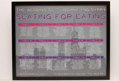 CUSTOM ORDER For Mara - Chicago City Skyline Seating Chart / Table Plan on Etsy, $48.11