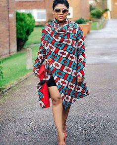 vetement africain, jolis imprimés africains en trois couleurs