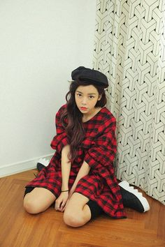 Lantern Sleeve Plaid Dress http://koreanfashionworld.com/product/lantern-sleeve-plaid-dress http://koreanfashionworld.com