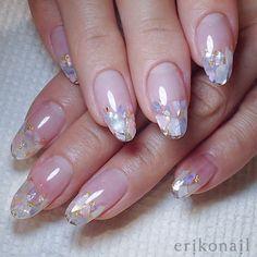 Long Nail Designs, Simple Nail Art Designs, Gel Nail Designs, Japanese Nail Design, Japanese Nails, Gem Nails, Bling Nails, Cute Nails, Pretty Nails