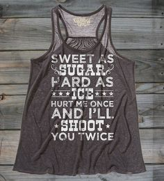 True Royal - Juniors Country Girls™ Shoot Twice Flowy Racerback Tank