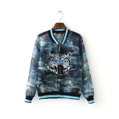 Camoflage Jacket With Premium Tiger Embroidery - JKT054