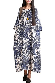 Mordenmiss Women's Printing Maxi Dress Travel Line Clothing Blue Mordenmiss http://smile.amazon.com/dp/B00T3X7N6O/ref=cm_sw_r_pi_dp_tX76vb0RM80DC
