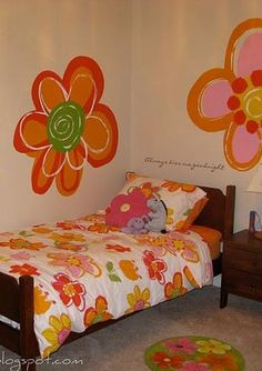 use the design of your child's bedding to inspire how to paint the walls