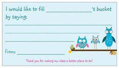 Make a comment card template on vista print business cards, super cheap!