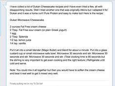 Duken Diet Cheesecake