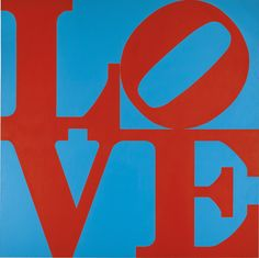'LOVE' 1967 Robert Indiana. Stencilled oil on canvas: 181.5 by 182.5cm.; 71½ x 71⅝ in. Sotheby's 2015 sale £1,565,000.