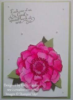 Creative Em: Watercolor Blended Bloom with Trust God from Stampin' Up!