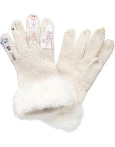 Snow Queen Novelty Gloves http://shop.pixiie.net/snow-queen-novelty-gloves-white/