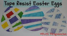 Sticker and TapeResist Easter Eggs | Lesson Plans | CraftGossip.com